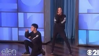 "Kaycee Rice and Sean Lew on the Ellen Show live / all performance | ""Icon"" - Jaden Smith"