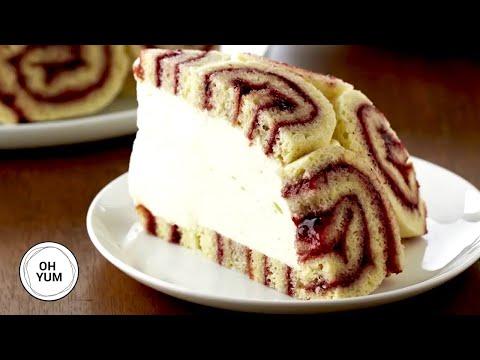 Charlotte Royale Jellyroll Cake   Chef Anna Olson