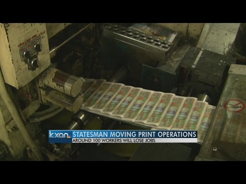 Austin American-Statesman moving printing operations, cutting 100 jobs