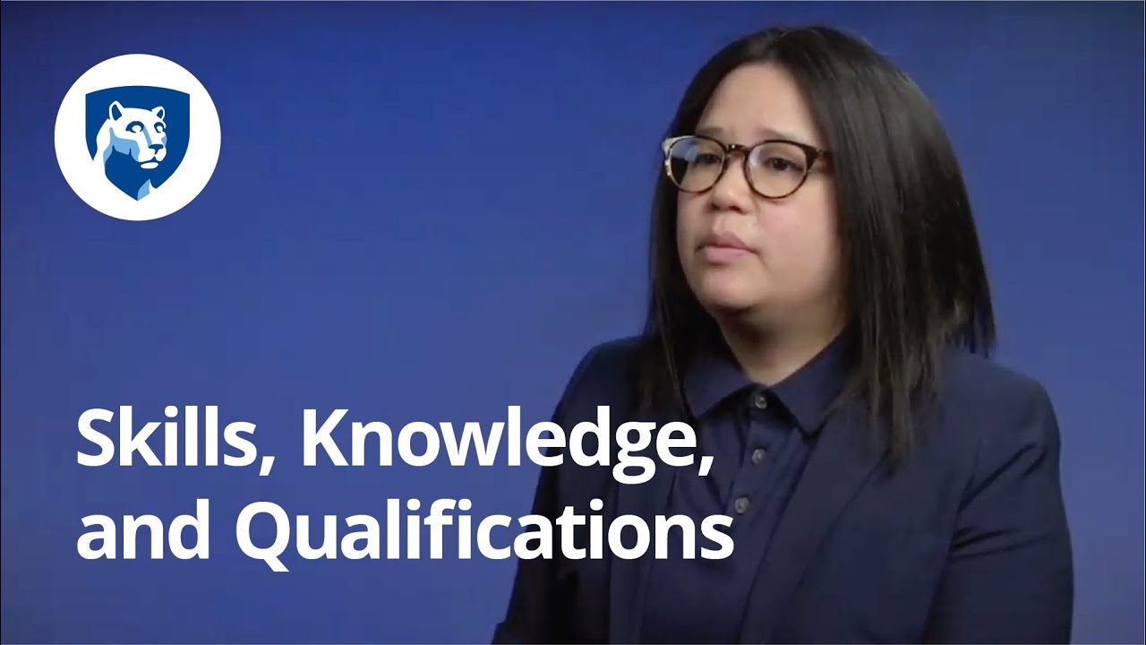 Focusing on Skills, Knowledge, and Qualifications | Alina Wong