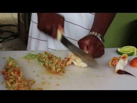 Freeport Bahamas Conch Salad At Billy Joes