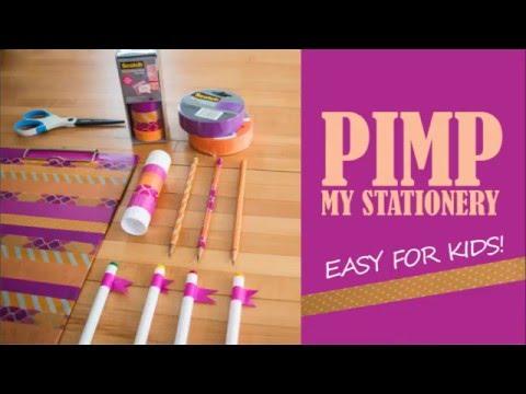 Pimp My Stationery - Back To School Tutorial