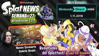 SplatNews #27 Resultados Splatfest Acción VS Comedia | Nintendo Direct Mini | Actualización 2.2