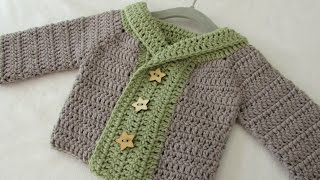Repeat youtube video How to crochet a baby / children's chunky winter sweater