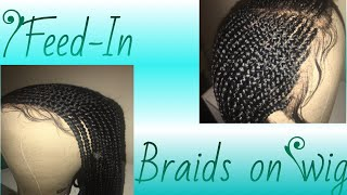 Braided Wig| Lace Frontal Wig| Feed-In Braids