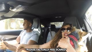 Mom goes for a ride in 510HP C63s AMG *SCARING MY MOM*