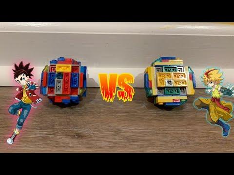 New stadium! Mirage Fafnir vs Infinite Achilles | LEGO beyblade battles