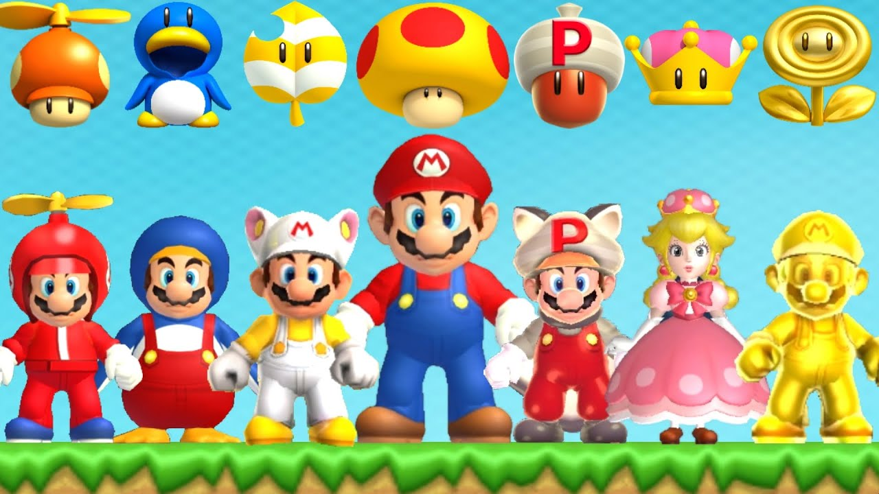 Download New Super Mario Bros Series - All Power-Ups
