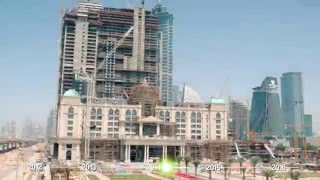 al habtoor city construction progress time lapse april 2012 january 2016