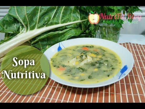 Sopa de Verduras nutritiva de la abuela fácil y Saludable.