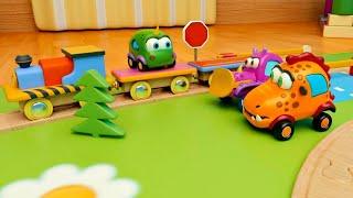 Машинки Мокас Железная дорога Новые мультики для детей