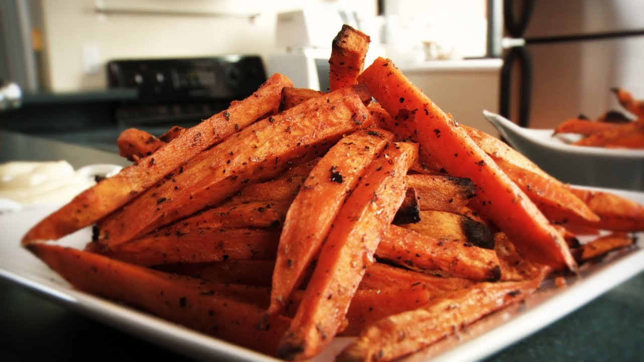 How to make delicious sweet potato fries recipe youtube for How to make delicious sweet potatoes