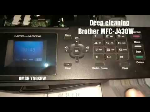 Cara Deep Cleaning BROTHER MFC-J430W