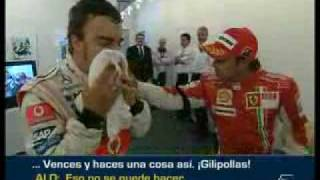 Alonso vs Massa GP Europa2007( discusión airada;discussão pesada)