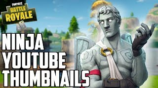 MAKE THUMBNAILS LIKE NINJA! Quick, Easy, and Free Tutorial for Fortnite Thumbnails!