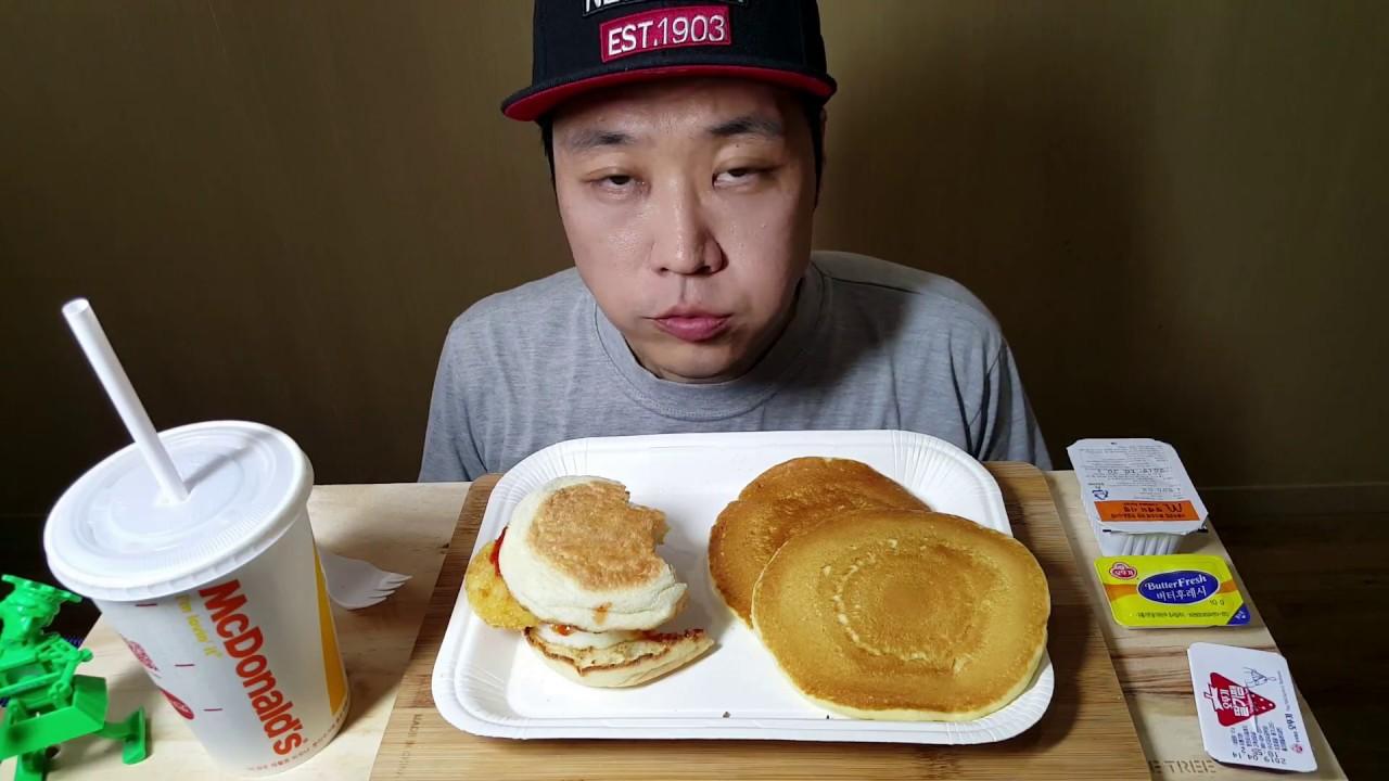 Asmr Mcdonalds Breakfast Hash Brown Pancakes Sausage Eating Sounds No Talking Mukbang