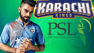 Virat Kohli Message To Karachi Kings • Pakistan Super League • PSL 2017