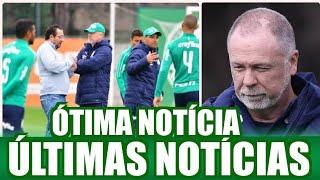 ÓTIMA NOTÍCIA PARA O PALMEIRAS, ÚLTIMAS NOTÍCIAS DO VERDÃO.