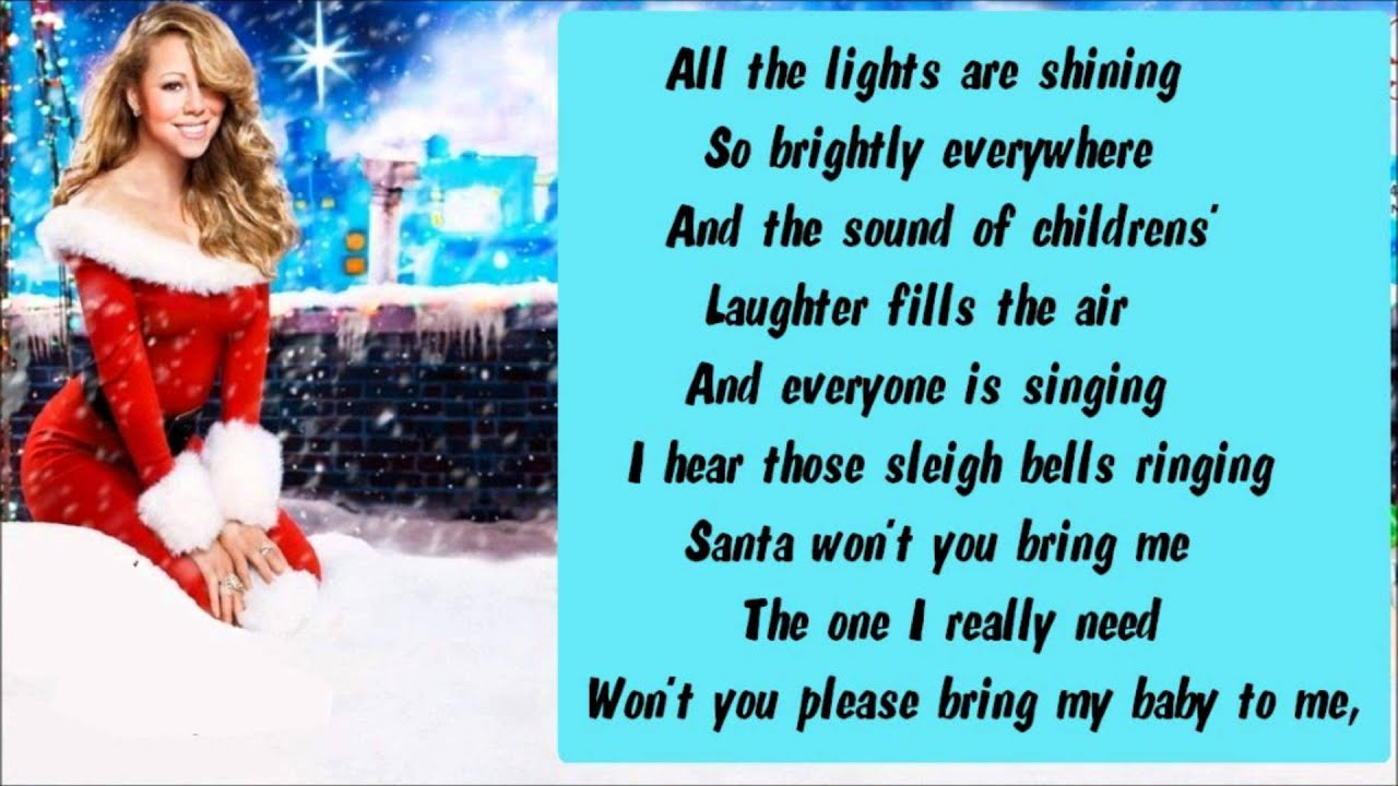 Lyrics All I Want For Christmas.Mariah Carey All I Want For Christmas Is You Extra Festive Lyrics