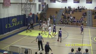 Acton Boxborough Varsity Boys Basketball vs Somerville 2/19/17