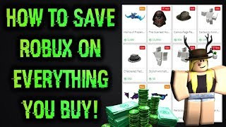 Save 10% Robux On Everything You Buy On The Catalog! (Roblox)