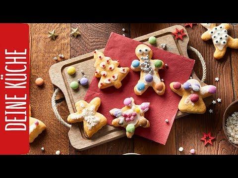 Weihnachtsplätzchen Aus Quark öl Teig Kindern Ein Lächeln Schenken