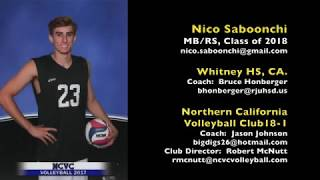 Nico Saboonchi 2018 MB RS Volleyball Recruiting Video 11:8:2017