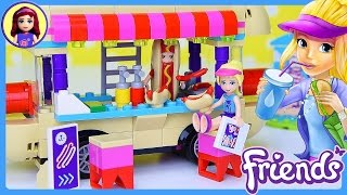 LEGO Friends Amusement Park Hot Dog Van Build Review Silly Play - Kids Toys