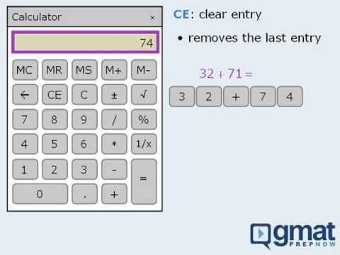 How to use the gmat calculator dummies.