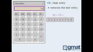 2. GMAT Integrated Reasoning Lesson: Onscreen Calculator