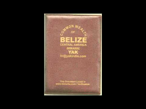 BELIZE CONTINUOUS DISCHARGE CERTIFICATE OR BOOK