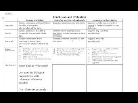 How to write a lab report - Conclusion and Evaluation - YouTube - evaluation report