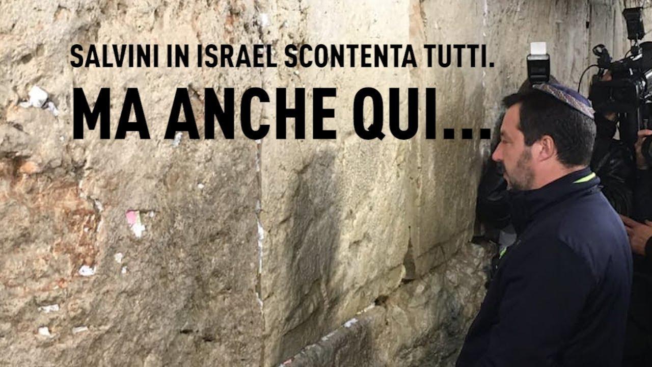 PTV News - No Comment - 12.12.18 -  Salvini in Israele scontenta tutti. Ma anche qui….