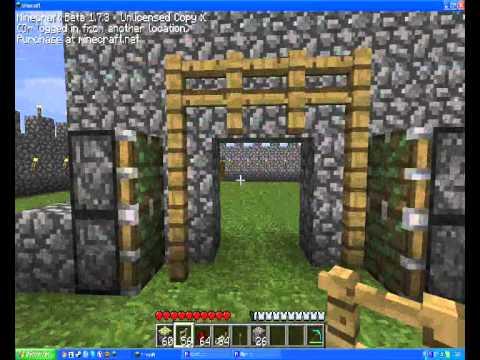 Tuto minecraft porte de ch teau youtube for Porte and minecraft