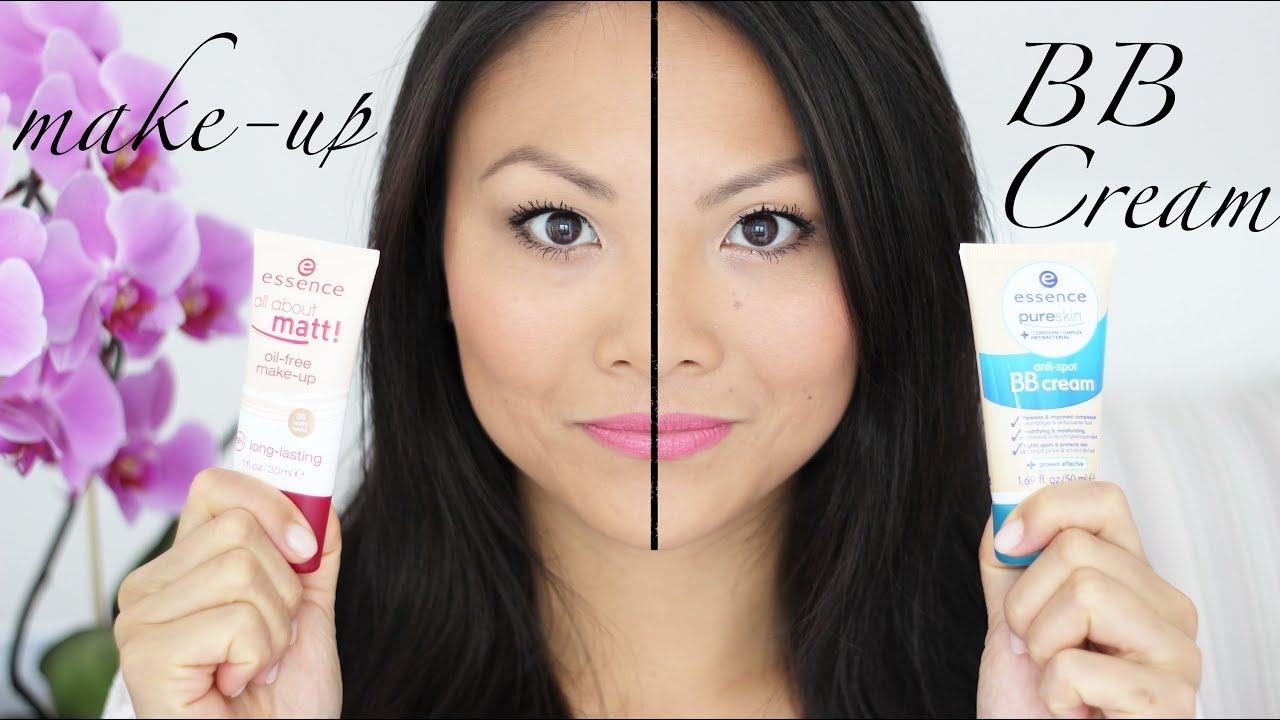 Review] Essence all about matt make-up + BB cream - YouTube