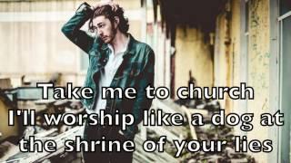 Hozier - Take Me To Church Karaoke Acoustic Instrumental Cover Backing Track + Lyrics