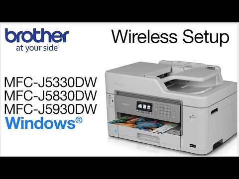 Wireless install MFCJ5830DW - Windows®