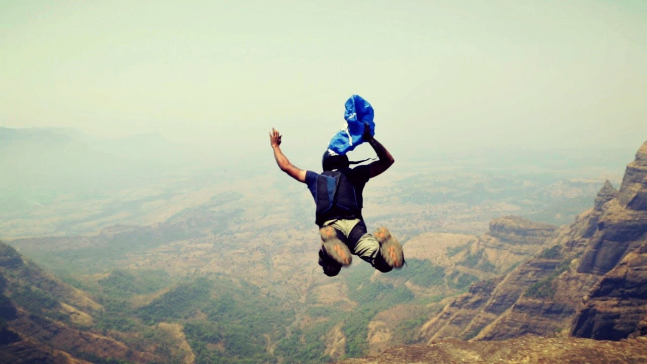 Base Jumping In India Video - YouTube