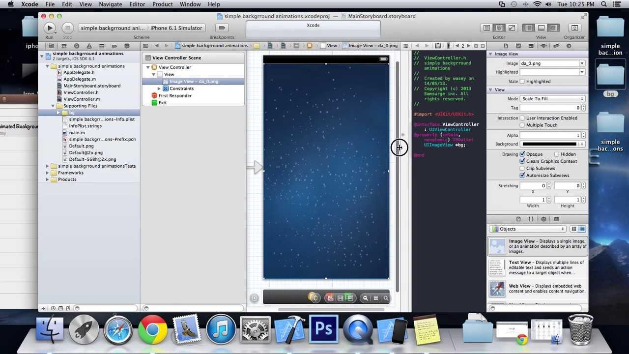 Background image xcode 6 - Simple Background Animation Xcode 4 6
