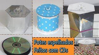 Potes Espelhados Feitos Com CDs e Papel – DIY artesanato