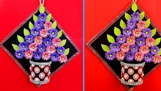 How to make a paper flower wall hanging - Paper flowers diy - Simple handmade home decor