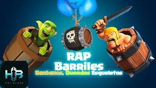 RAP BARRELS | Elves Vs barbarians Vs skeletons | Clash Royale | Spanish RAP Hat Black Game