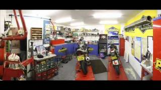 Bikes of Brighton Motorbike Shop Photos with Clothing and Workshop pictures