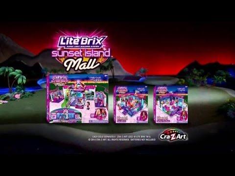 Toy Commercial 2014 - Cra-Z-Art Lite Brix Sunset Island Mall - Light ...