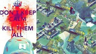 Battle Islands Online game play WAR! WSA TROOP 420 (green) vs LA SOUCHE ; FR (blue) part 2