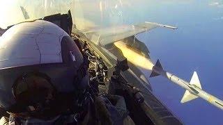 Cockpit View: F/A-18C Hornet Fires AIM-7 Sparrow Missile
