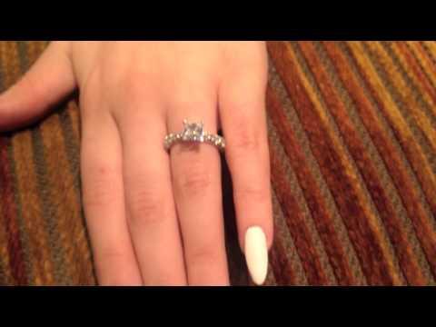 1 ct Princess Cut Cubic Zirconia Engagement Ring