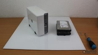 Synology Nas DS211J Festplatten HDD einbauen 2-Bay