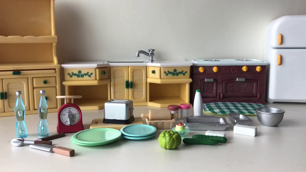 lps review of calico critter kozy kitchen set - Kozy Kitchen