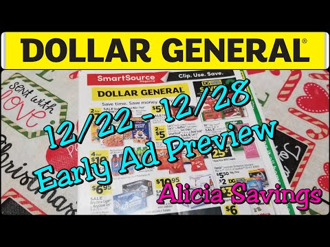 Dollar General Early Ad Preview 12/22 - 12/28 Dollar General Sale Ad Preview ! 3 Day Sale